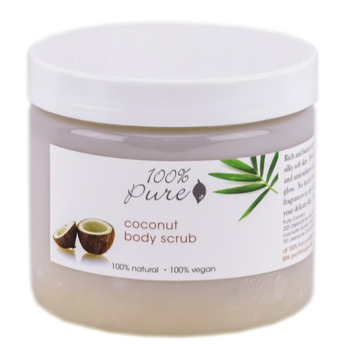 100% Pure Body Scrub Organic Coconut 16oz