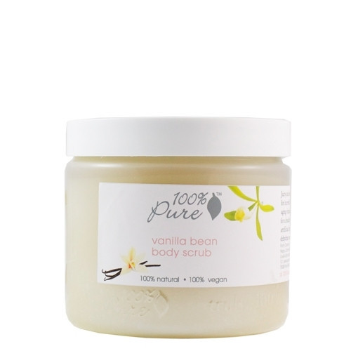 100% Pure Body Scrub Organic Vanilla Bean 16oz