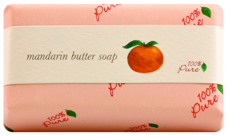 100% Pure Mandarin Butter Soap 4.5oz