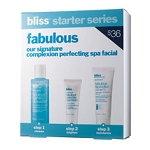Bliss Starter Set Signature Complexion Perfecting Spa Facial 3 piece kit
