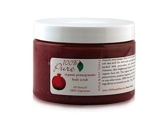 100% Pure Organic Pomegranate Body Scrub 6oz