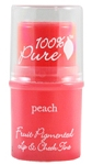 100% Pure Fruit Pigmented Lip and Cheek Tint - Peach Glow (0.26 oz.)