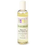 Aura Cacia Sweet Almond Natural Skin Care Oil with Vitamin E, 4 oz. bottle