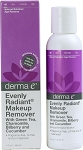 Derma E Evenly Radiant Makeup Remover w/ Intensive Skin Brightening  4 OZ
