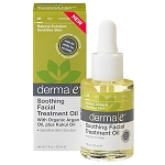 Derma E  Soothing Facial Treatment Oil with Argan and Kukui Oils 1 oz