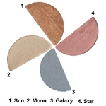 Ecco Bella  FlowerColor Shimmer Dust Star (1/2 pan) .05 oz