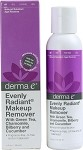 Derma E Evenly Radiant Makeup Remover with Intensive Skin Brightening Complex 4 OZ