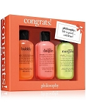 Philosophy Congrats 3 Piece Gift Set - Senorita Margarita Shower Gel 6oz, Melon Daquiri Shower Gel 6oz, and Bubbly Shower Gel 6oz
