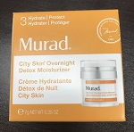 Murad City Skin Overnight Detox Moisturizer Travel Size .25oz