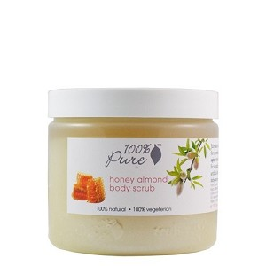 100% Pure Body Scrub Organic Honey Almond 15oz
